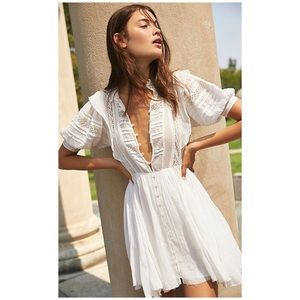 Free People One Sydney Mini Dress Ivory